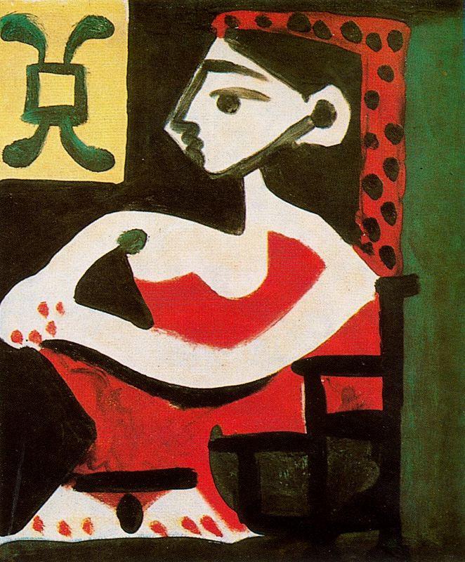 Пабло Пикассо. Девушка в красном