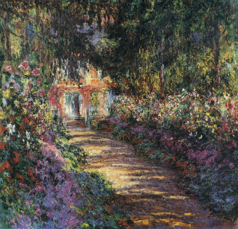 Claude Monet. The path through the garden at Giverny