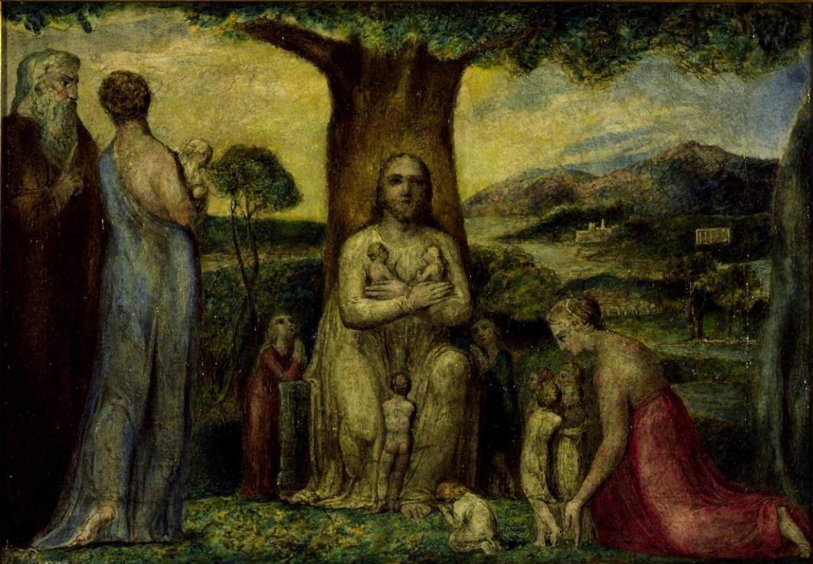 William Blake. Christ blesses little children