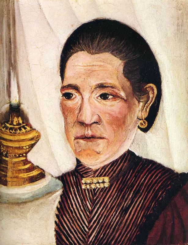 Анри Руссо. Портрет второй жены художника (с керосиновой лампой))