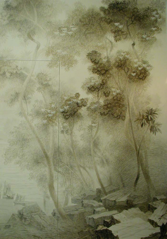 Sergey Konstantinov. Mural room by Art Studio Sergey Konstantinov