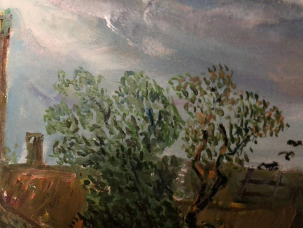 Речной пейзаж с церковью и крестьянским двором . Вариация на тему Гойен, Ян ван