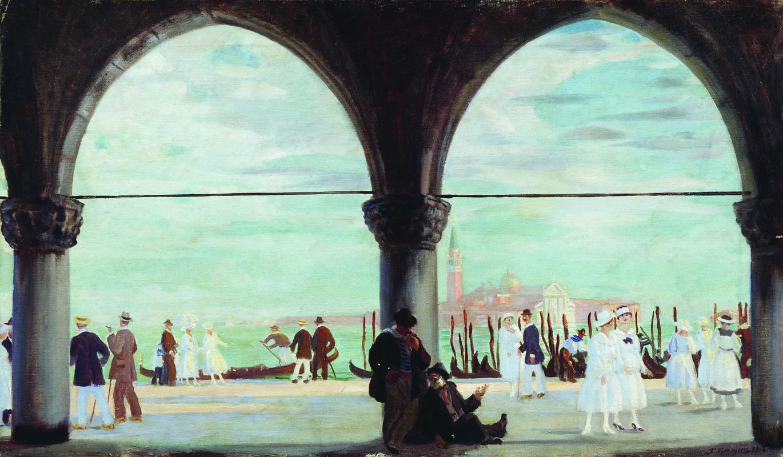 Boris Kustodiev. Venice. Memory