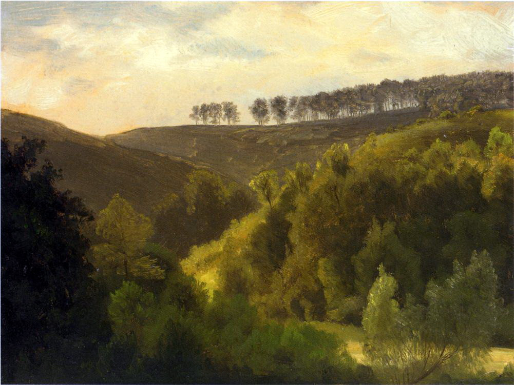 Альберт Бирштадт. Восход солнца над лесами