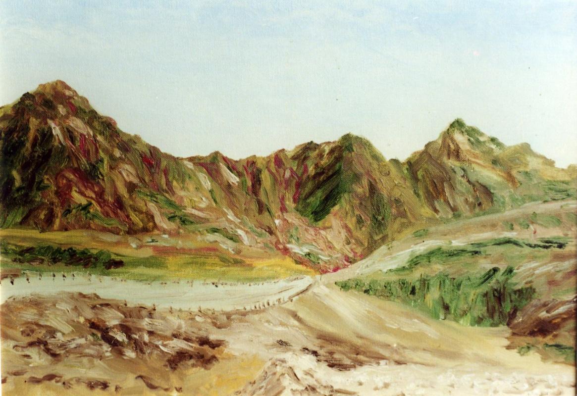 Rita Arkadievna Beckman. The road to Eilat, the Red sea