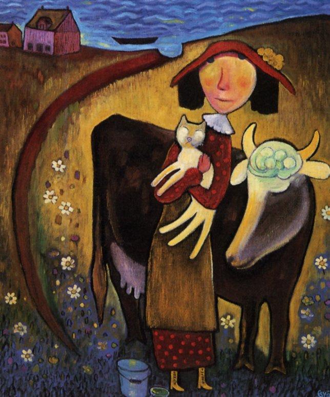 Нер Де Грейс. Девушка с кошкой