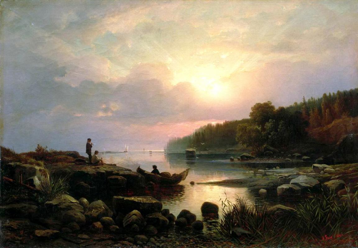 Alexander Vasilevich Gine. The Finnish landscape