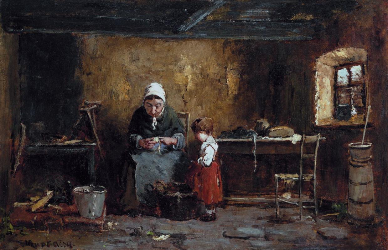 Михай Либ Мункачи. На кухне