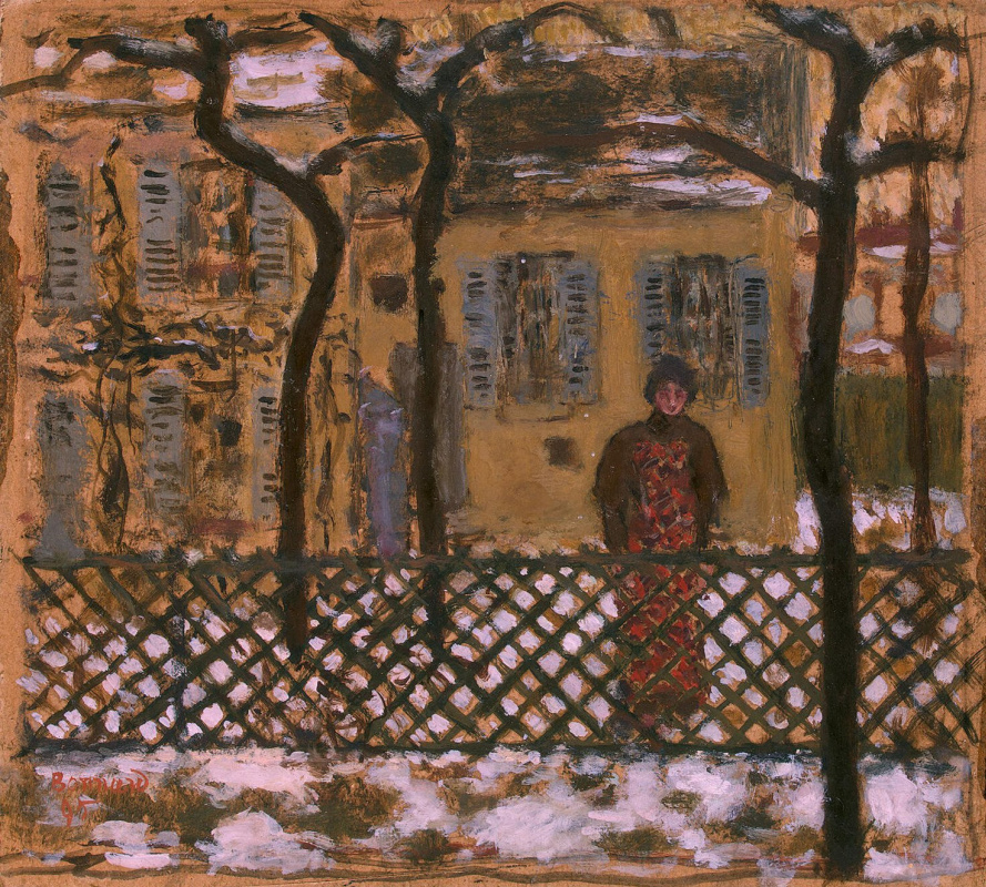 Pierre Bonnard. Behind the fence