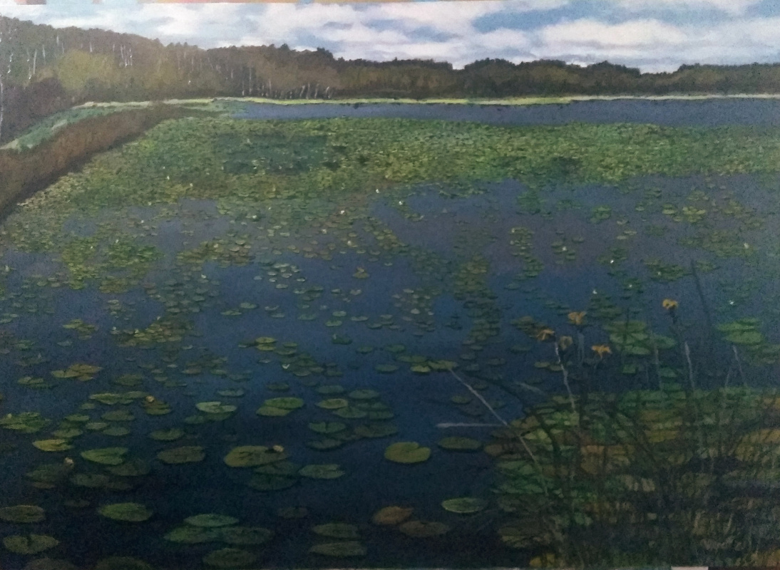 Vladimir Adamovich Ropot. Water lilies