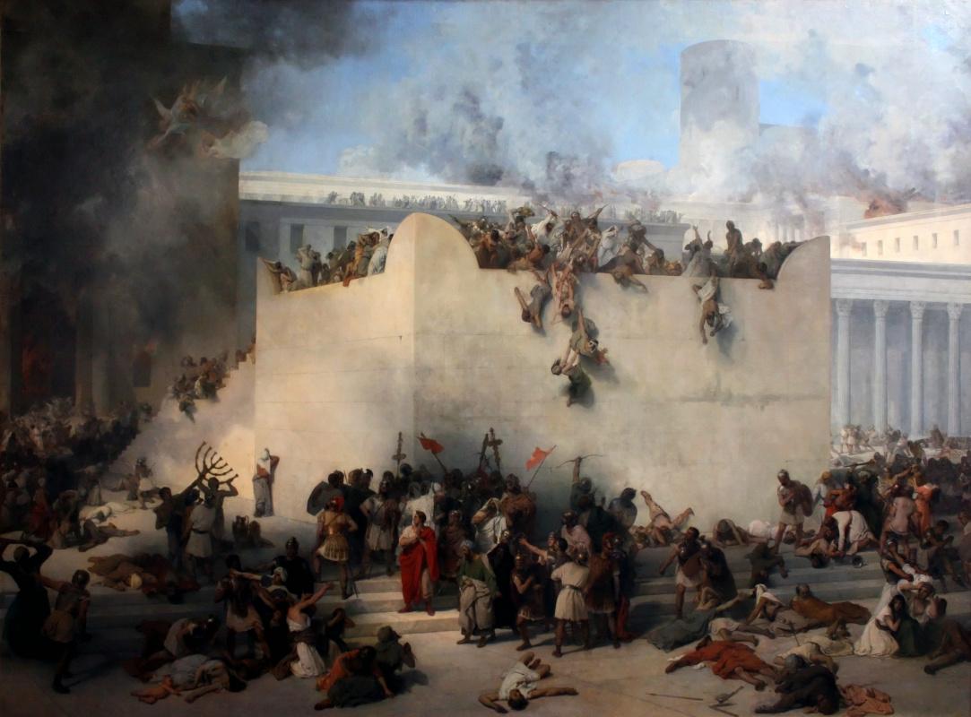 Francesco Ayets. Destruction of the Temple of Jerusalem