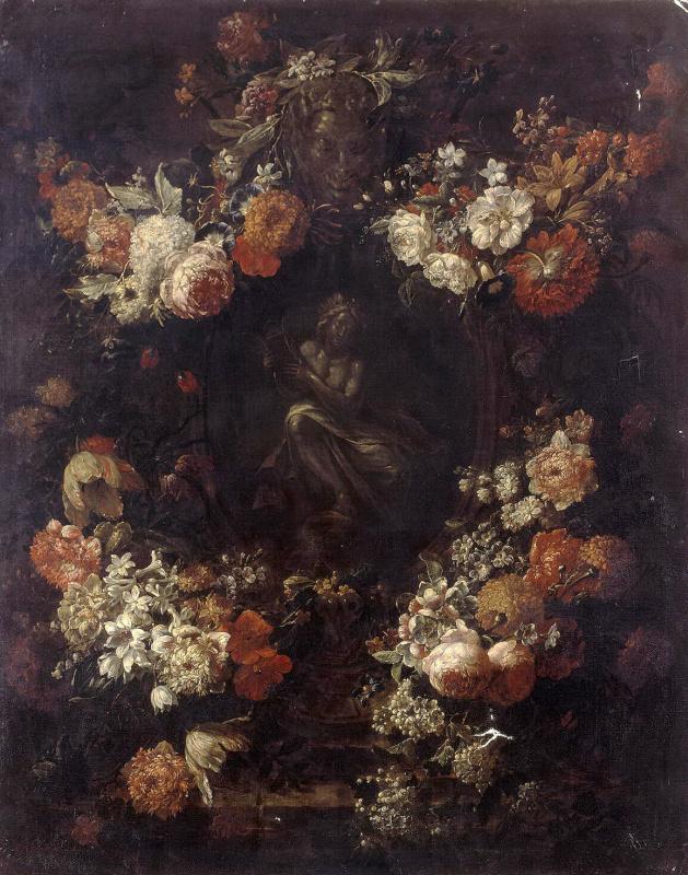 Аполлон, играющий на кифаре в гирлянде цветов