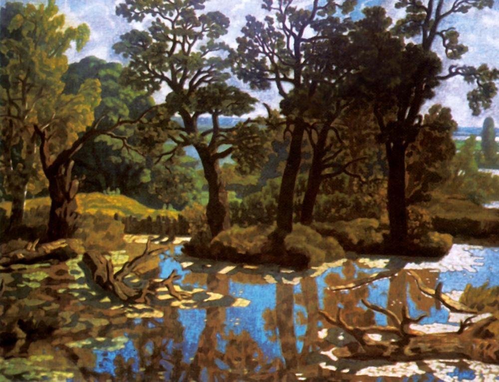 Nikolay Petrovich Krymov. Landscape with river
