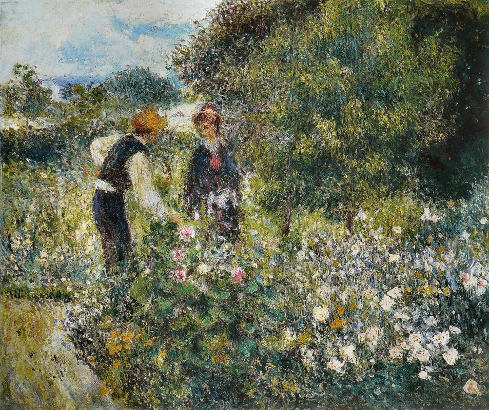 Pierre-Auguste Renoir. Picking flowers