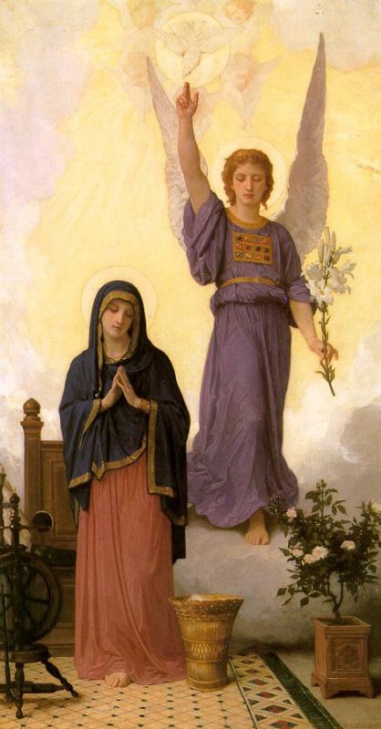 William-Adolphe Bouguereau. The Annunciation