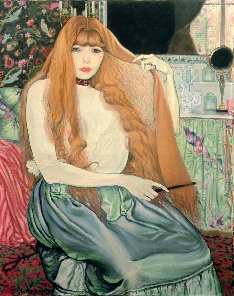 Луи Анкетен. Женщина, расчесывающая волосы 1889
