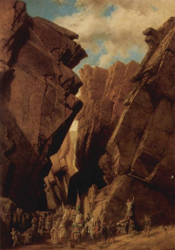 Адриен Даузатц. Перевал Железные врата в Алжире, 18 октября