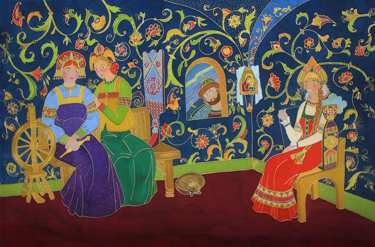 Ксения Михайловна Стеценко. Three girls