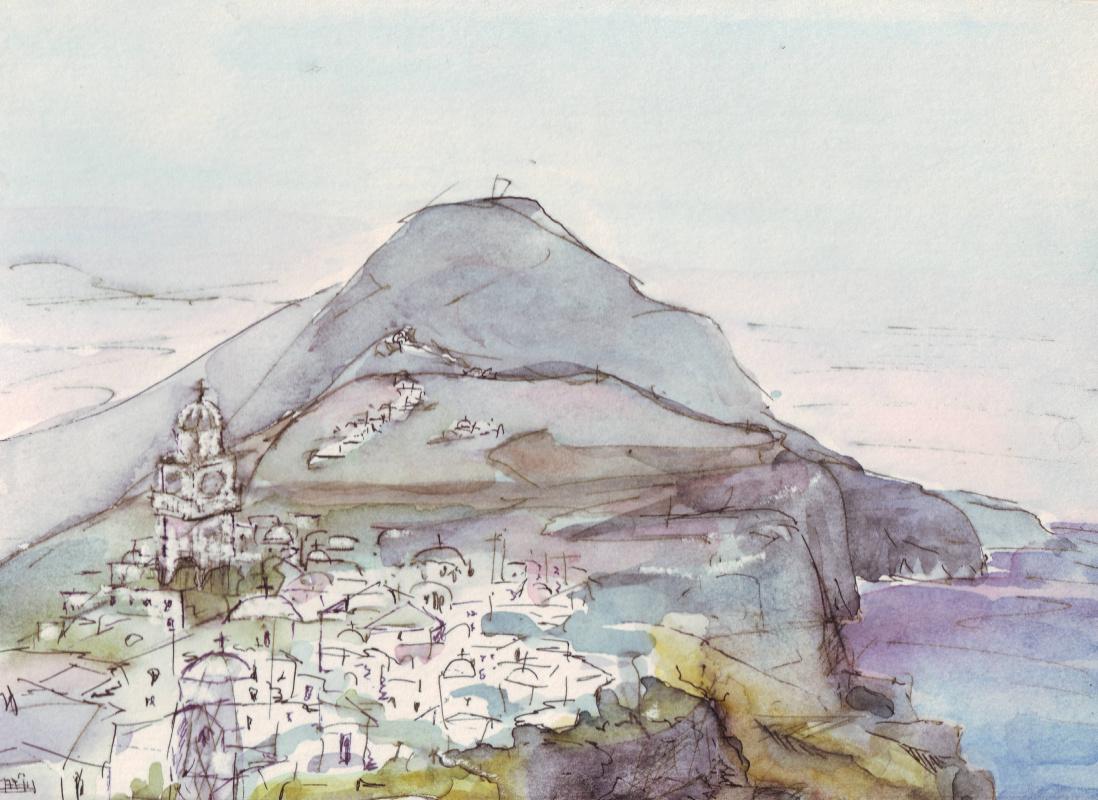 Natasha Chubarova. Santorin island