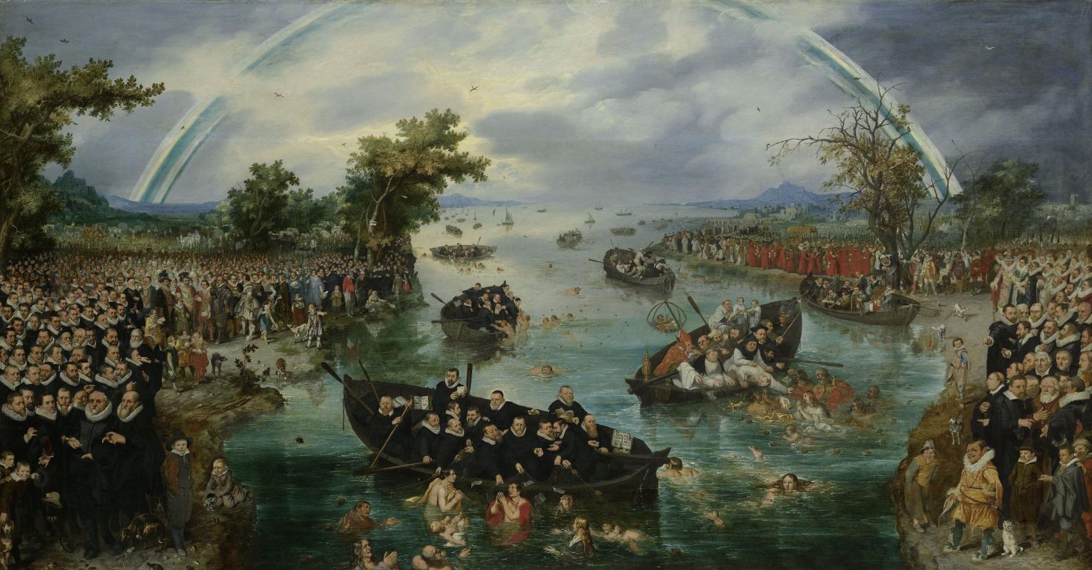 Адриан ван де Венне. Ловля душ