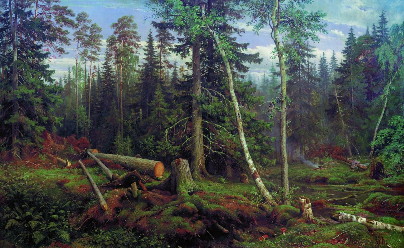 Картинки по запросу Иван Шишкин «Рубка леса»,