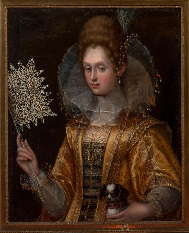 Портрет неизвестной дамы с веером