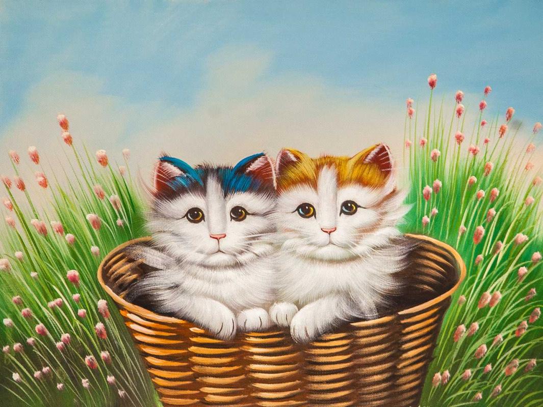 Maria Potapova. Котята в корзине