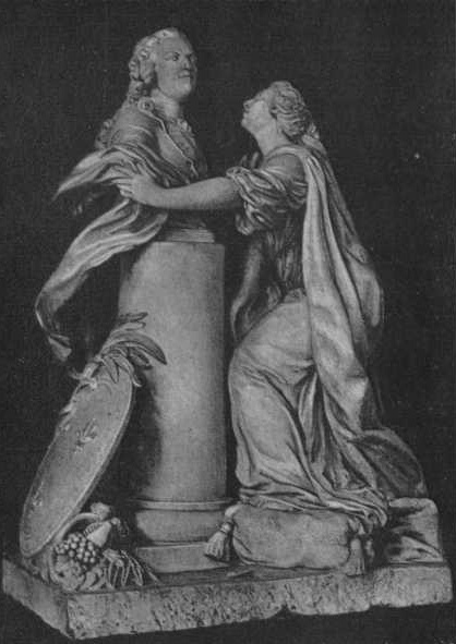 Etienne Maurice Falcone. France hugging a bust of Louis XV