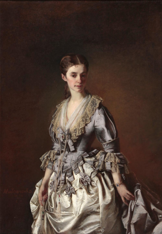 Alexander Dmitrievich Litovchenko. The portrait of a lady in grey