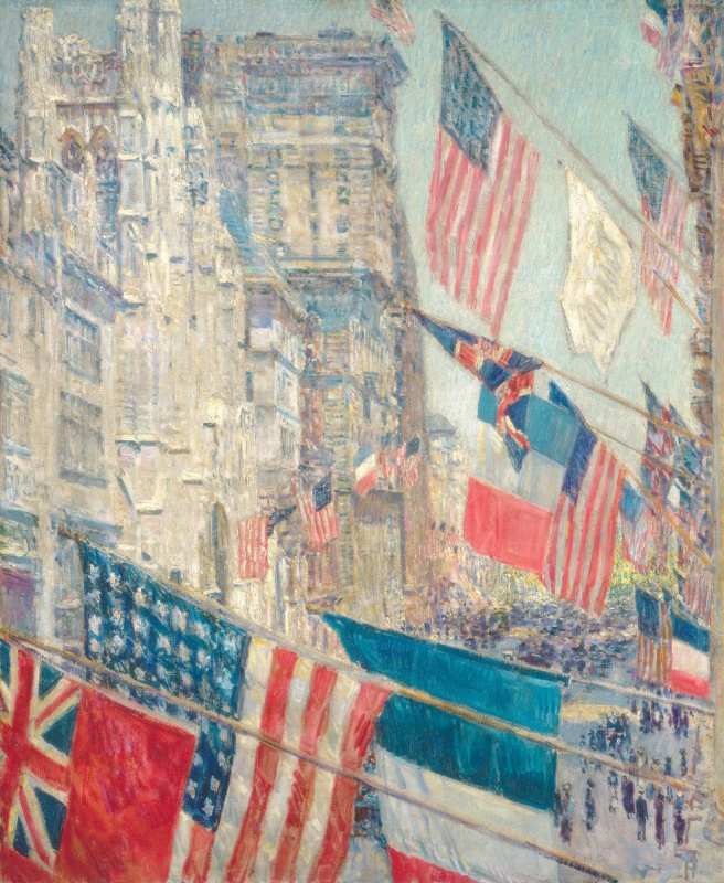 """Childe Hassam. Allies day, may 1917 (from the series """"Flags"""")"""