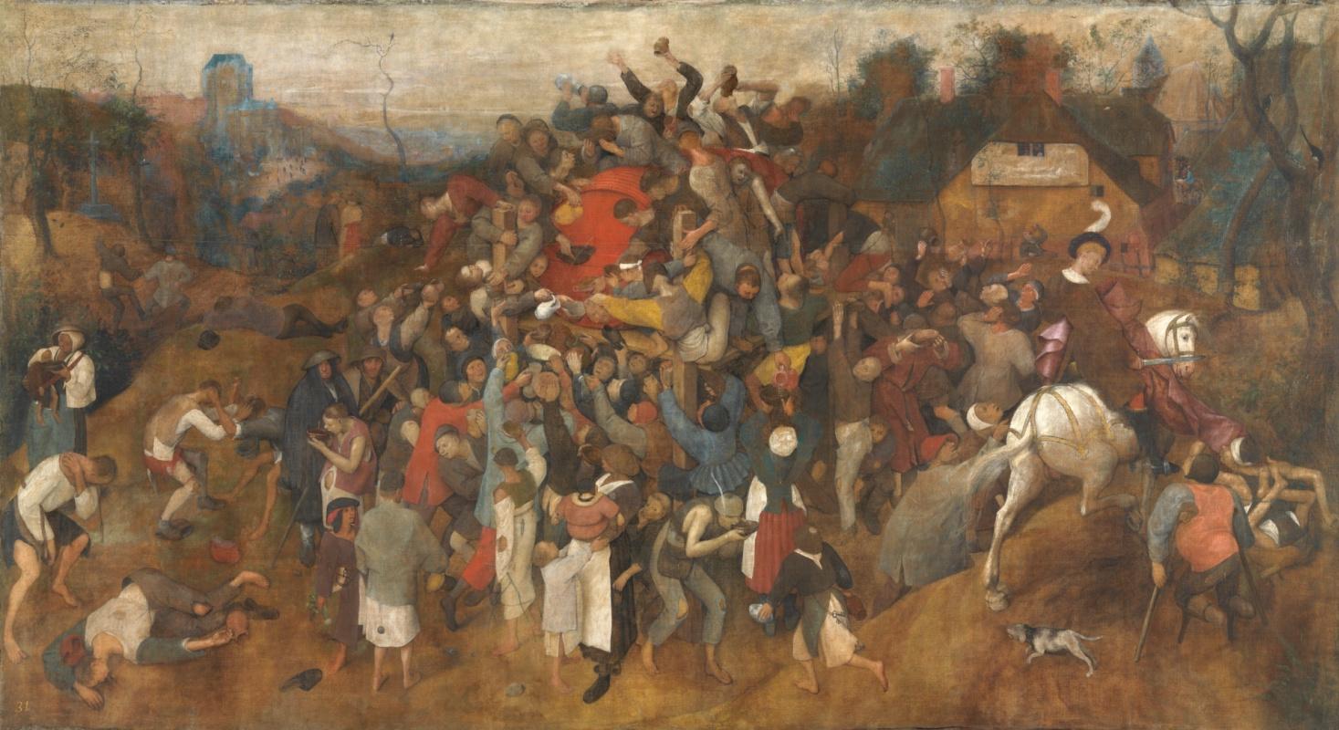 Pieter Bruegel The Elder. The Wine of Saint Martin's Day