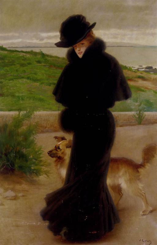 Витторио Коркос. Дама в черном платье