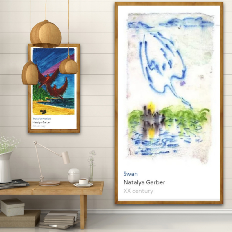 Natalya Garber. Transformation and Swan. Two works for the creative space of home, office, educational or community organization