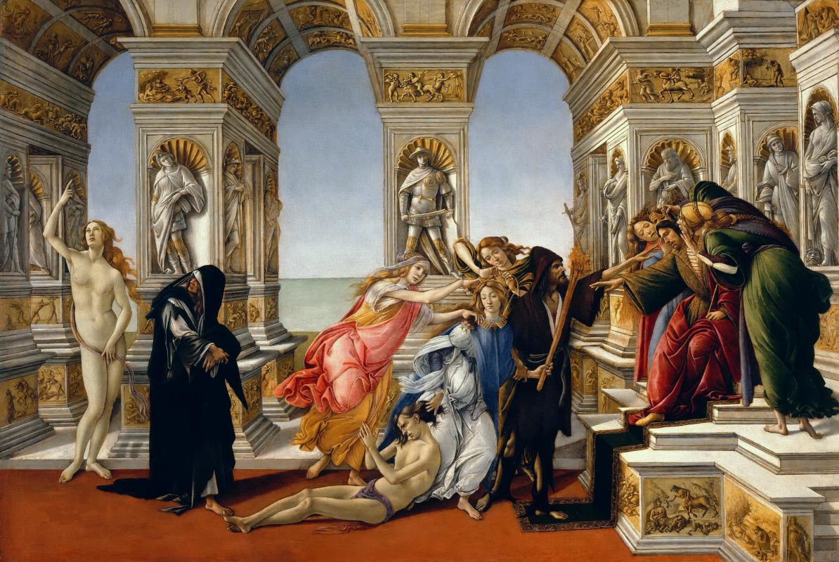 Sandro Botticelli. Calumny of Apelles