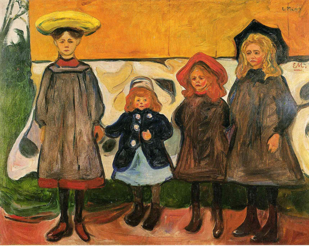 Edvard Munch. Four girls in Asgardstrand