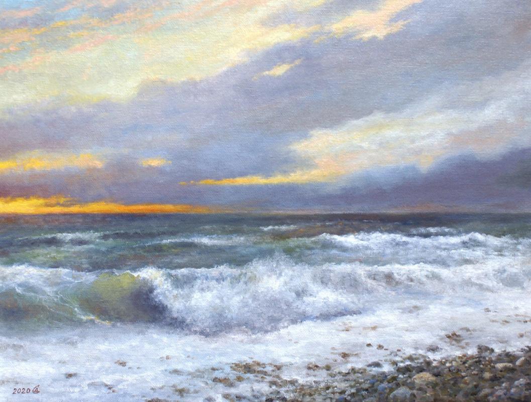 Сергей Владимирович Дорофеев. Storm at sunset