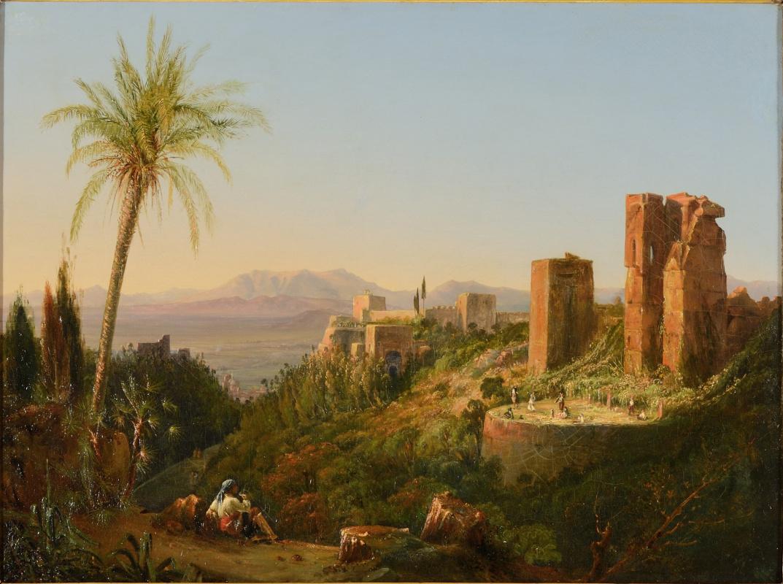 Жозеф-Филибер Жиро де Прандже. Башни, окружающие дворец Альгамбра, Гранада