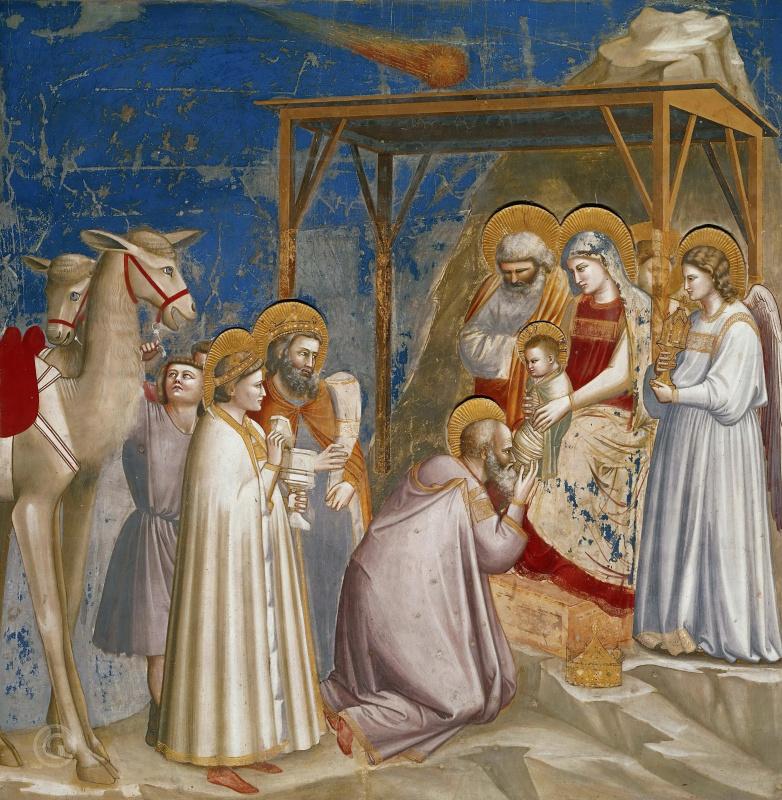 Джотто ди Бондоне. Поклонение волхвов. Сцены из жизни Христа