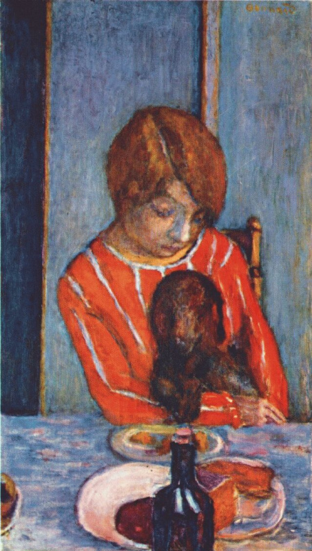 Pierre Bonnard. Girl with dog