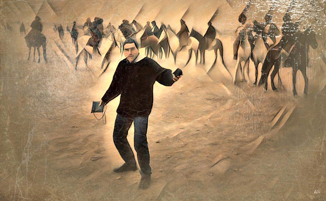 Alexios Shandermani. ALEX AND HORSE RIDERS