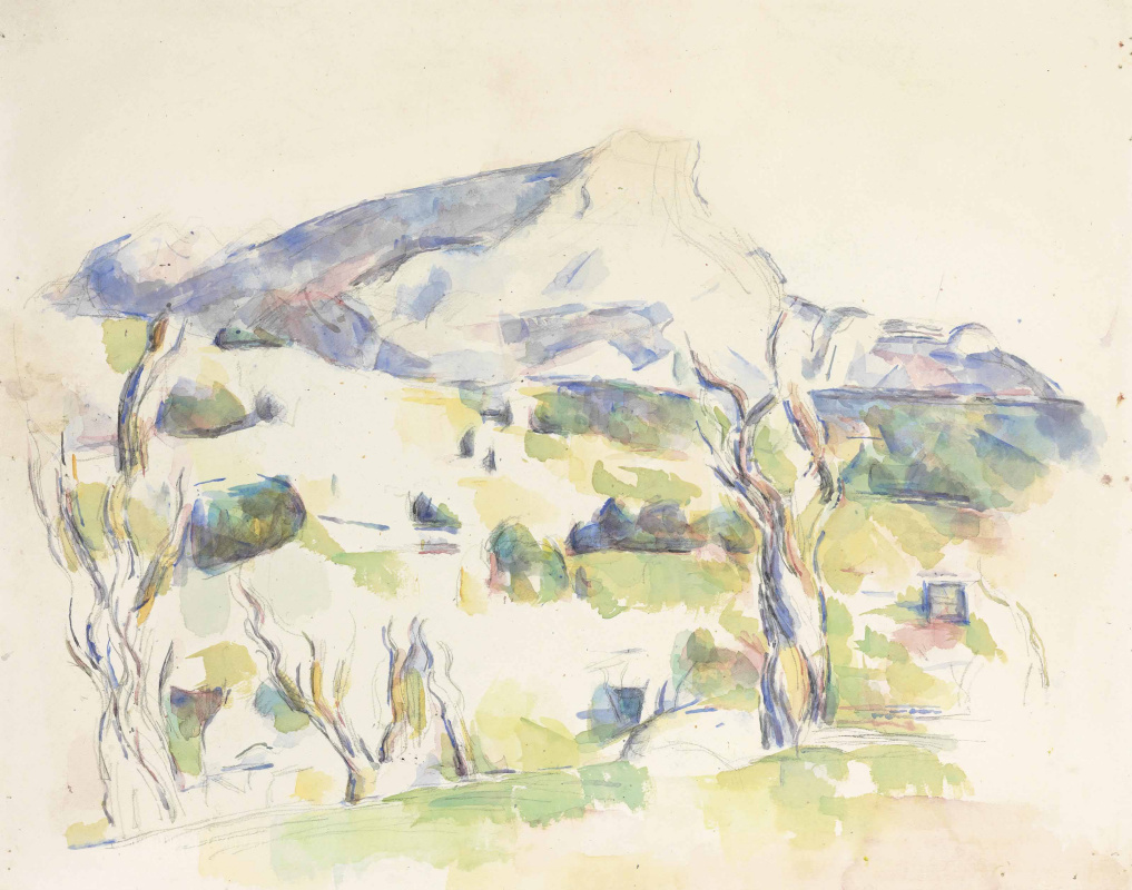 Paul Cezanne. Mount Sainte-Victoire from Lauves