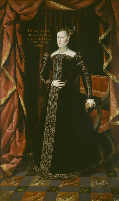 Хуан Пантоха де ла Крус. Хуана Австрийская, сестра Филиппа II, принцесса Португалии