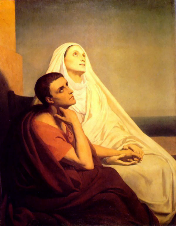 Ари Схеффер. Святая Моника и Святой Августин