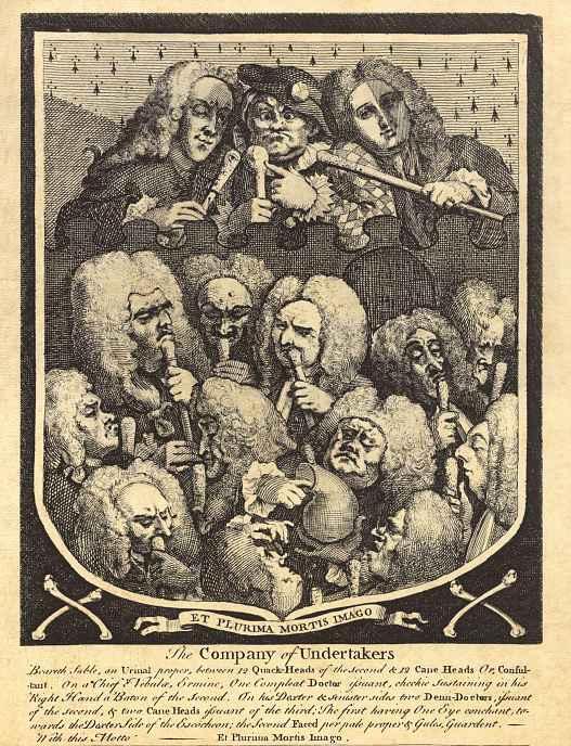 Уильям Хогарт. Общество могильщиков