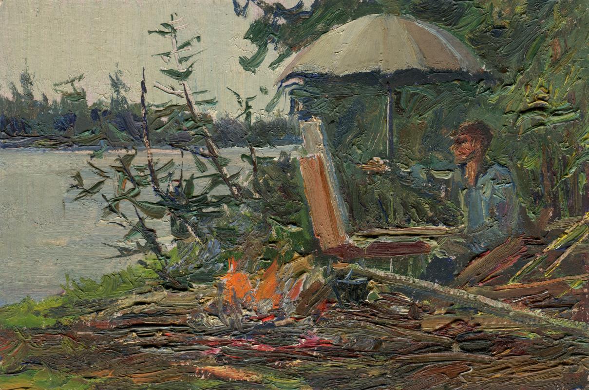 "Vasily Fadeevich Demin. Study ""Artist at Work"""