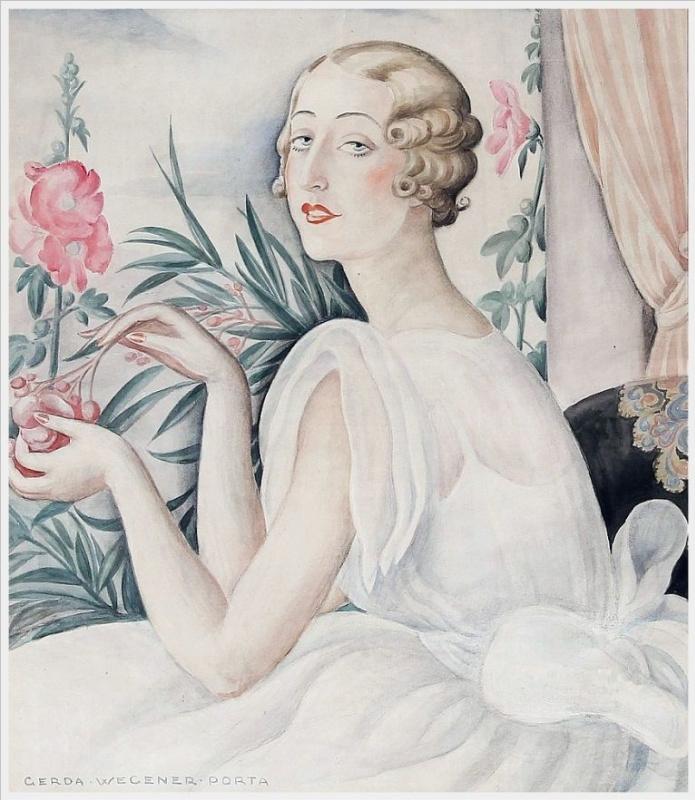 Gerda Wegener. Portrait of a young woman