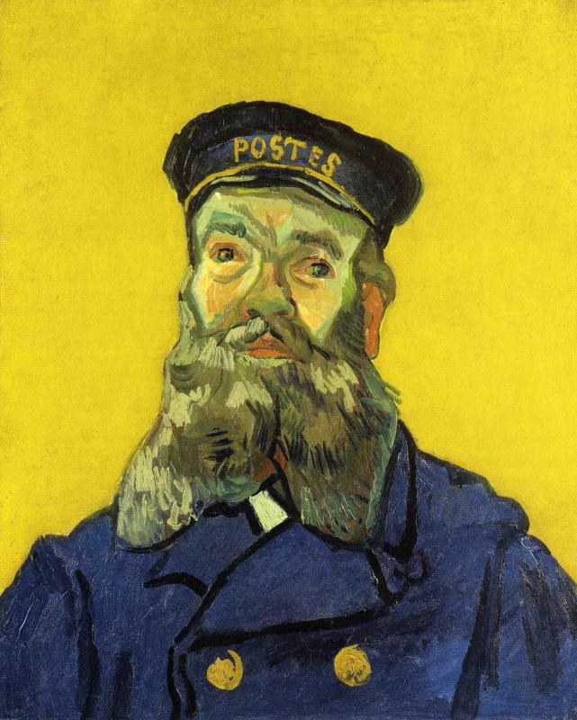 Винсент Ван Гог. Портрет почтальона Жозефа Рулена (вариант)