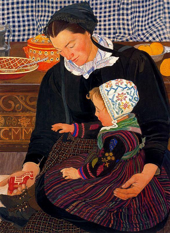 Эрнест Билер. Мать с ребенком