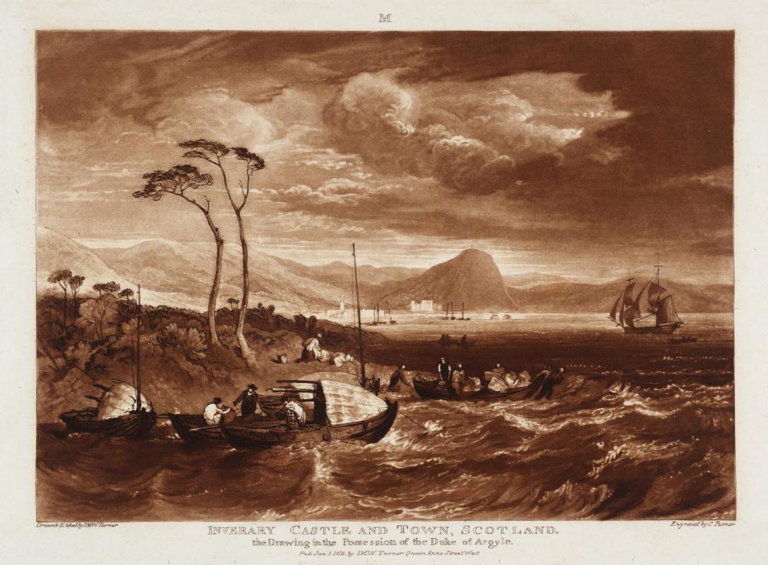 Joseph Mallord William Turner. The castle and town of Inveraray, Scotland