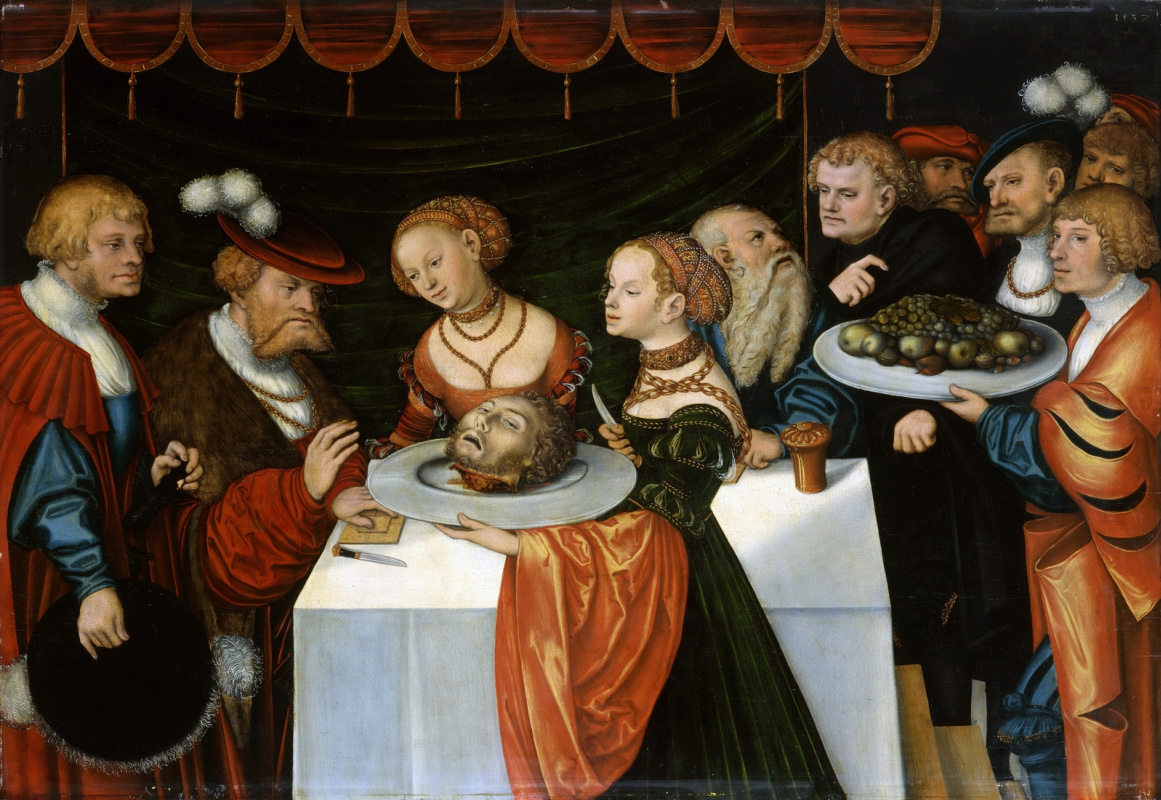 Лукас Кранах Младший. Пир Ирода.  1537